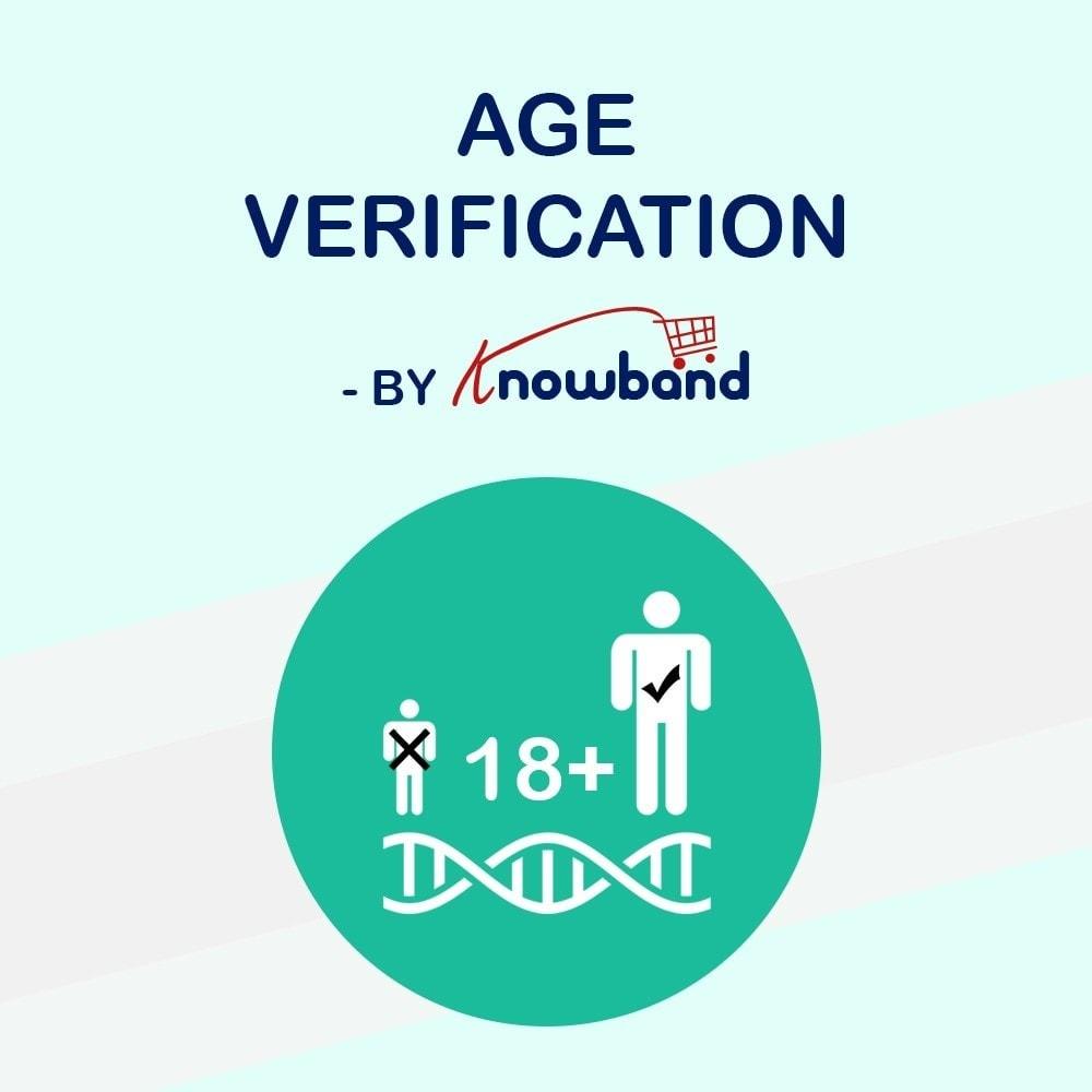 module - Veiligheid & Toegang - Age Verification Popup   18+ Verification - 1