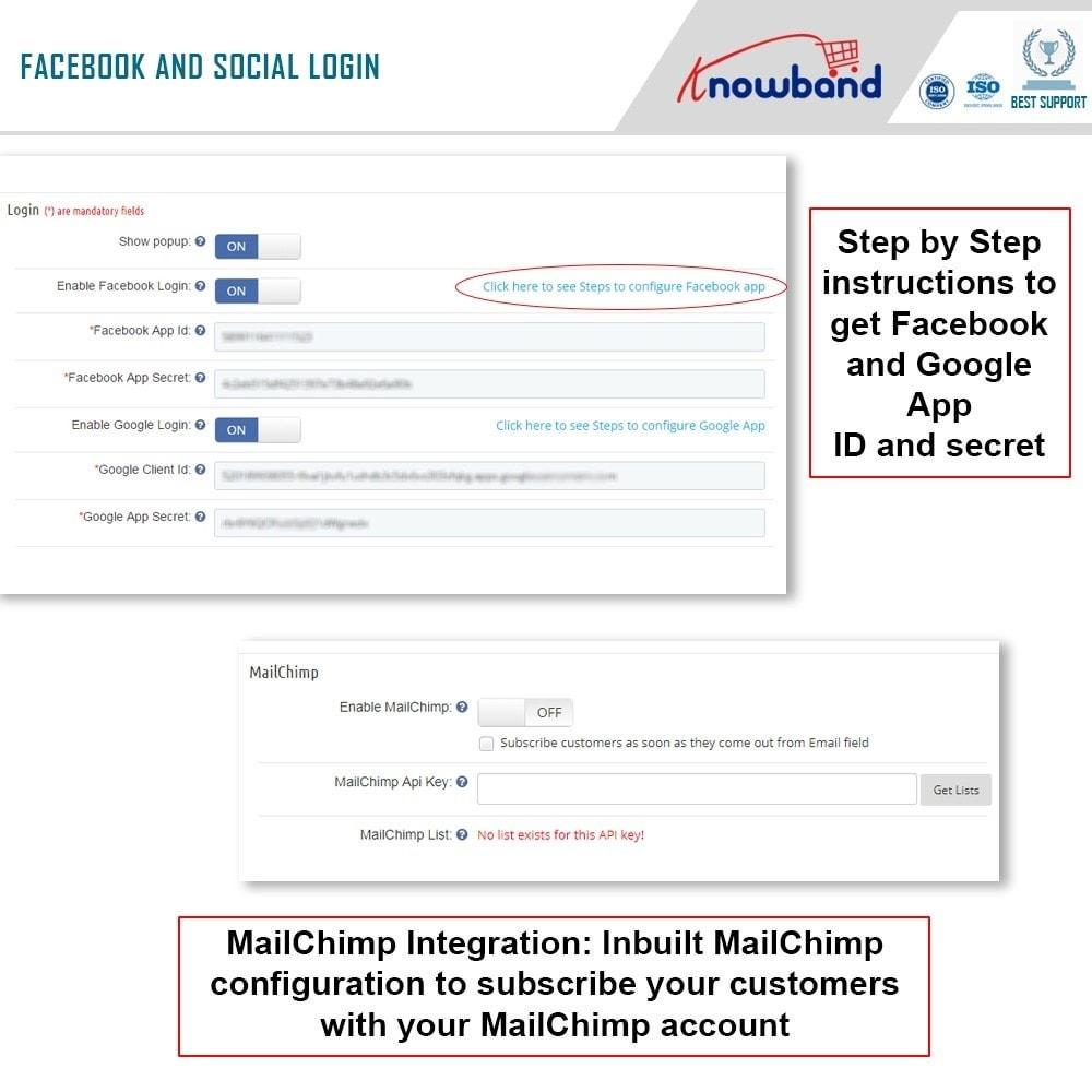 module - Express Checkout Process - One Page Checkout, Social Login & Mailchimp - 19