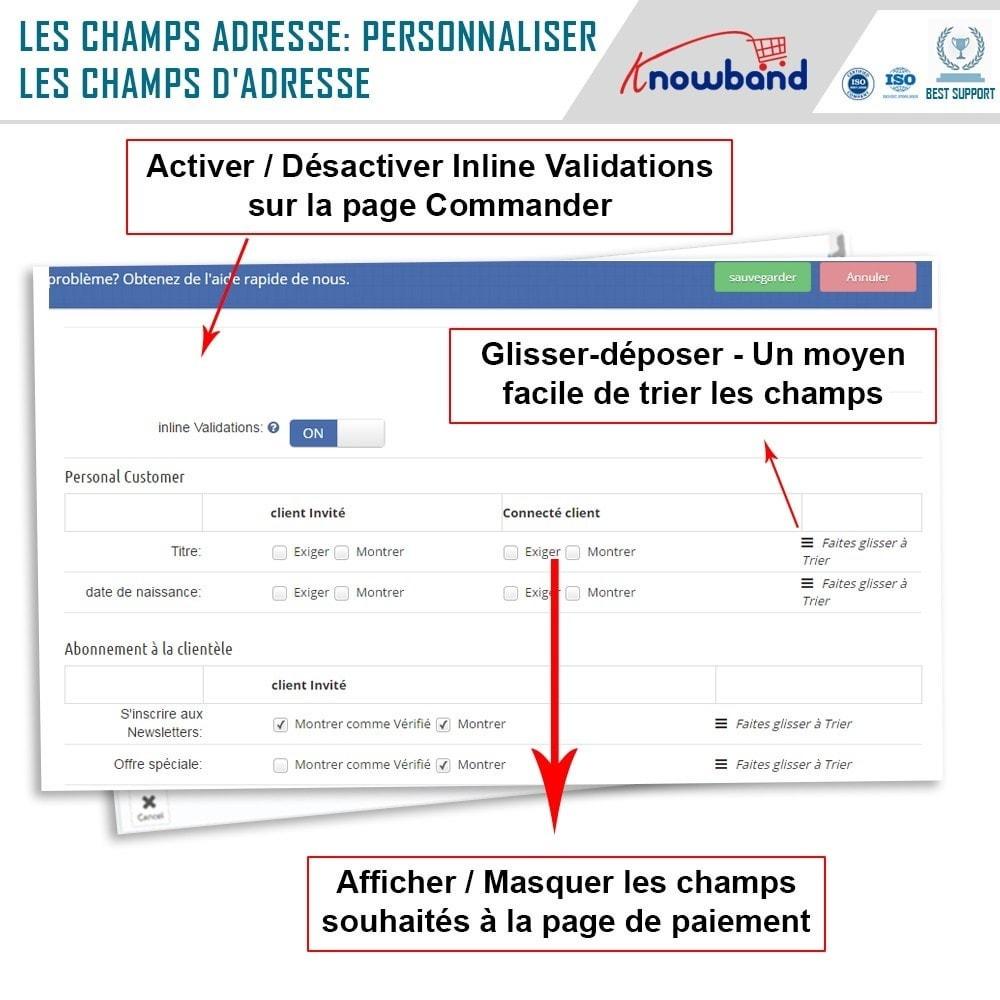 module - Processus rapide de commande - Knowband - One Page Checkout, Social Login & Mailchimp - 16