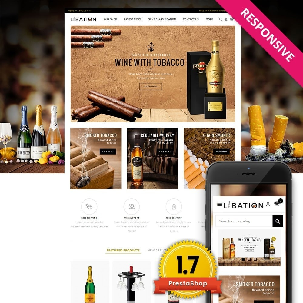 theme - Drink & Wine - Libation Wine Store - 1