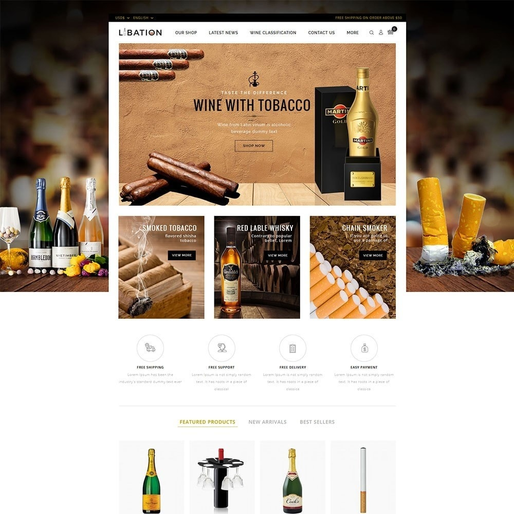 theme - Drink & Wine - Libation Wine Store - 2