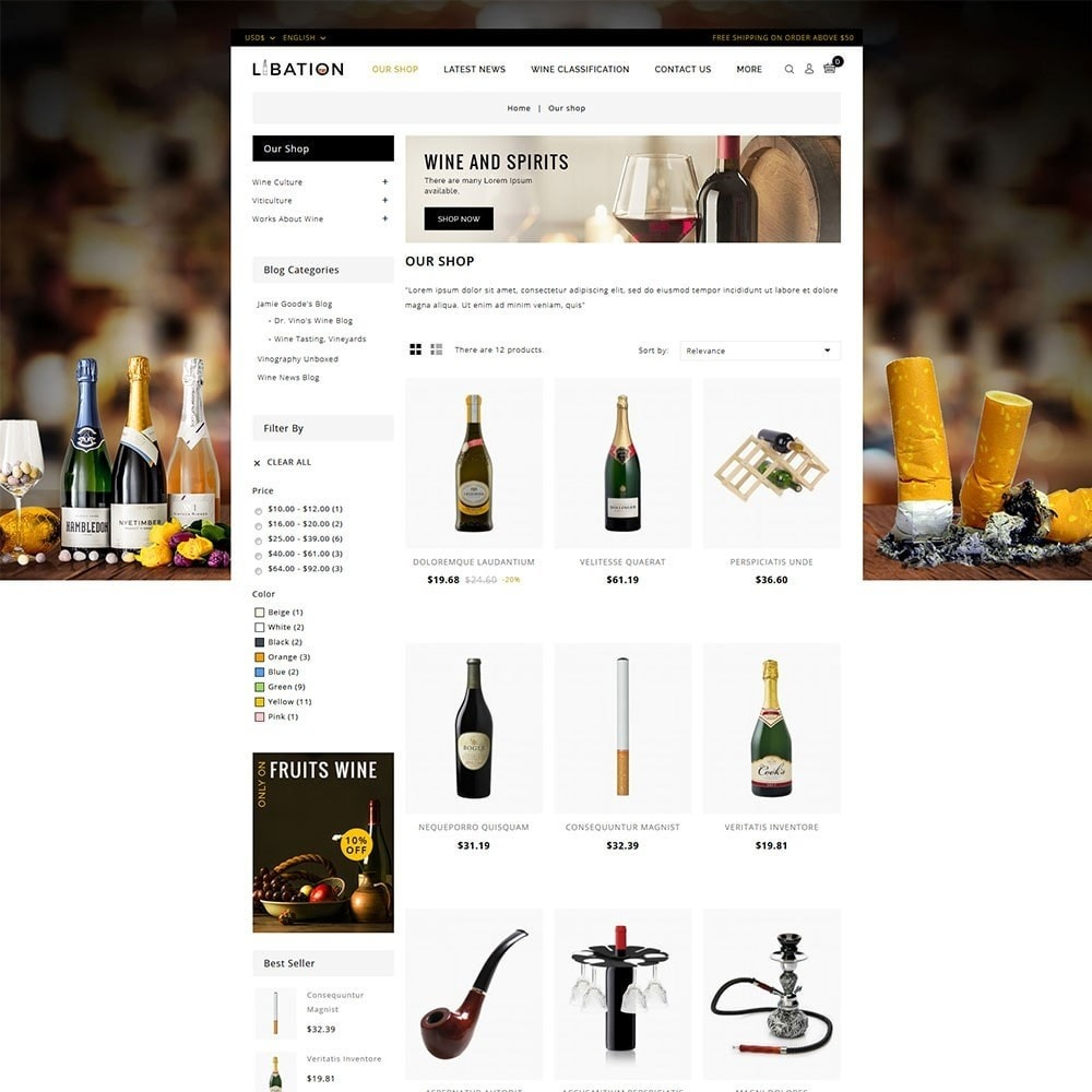 theme - Drink & Wine - Libation Wine Store - 3