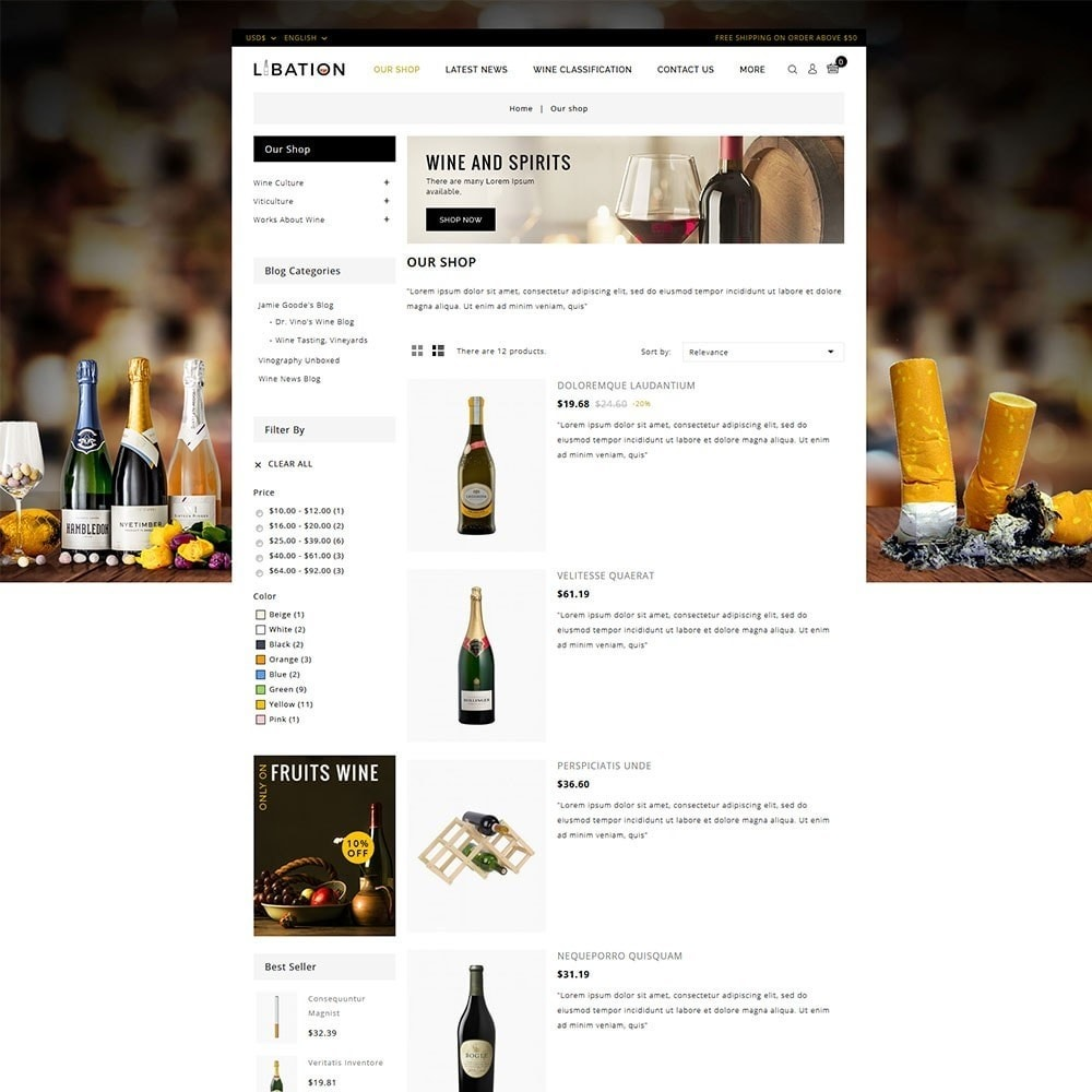 theme - Drink & Wine - Libation Wine Store - 4