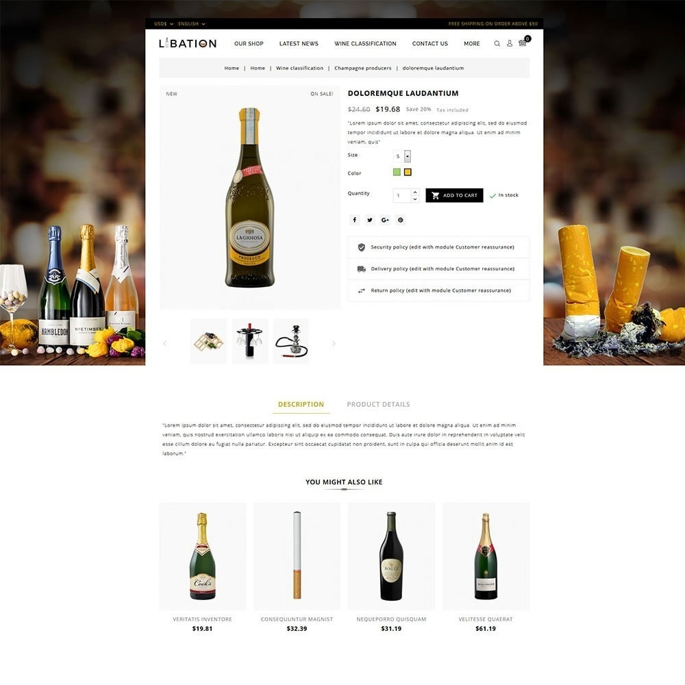 theme - Drink & Wine - Libation Wine Store - 5