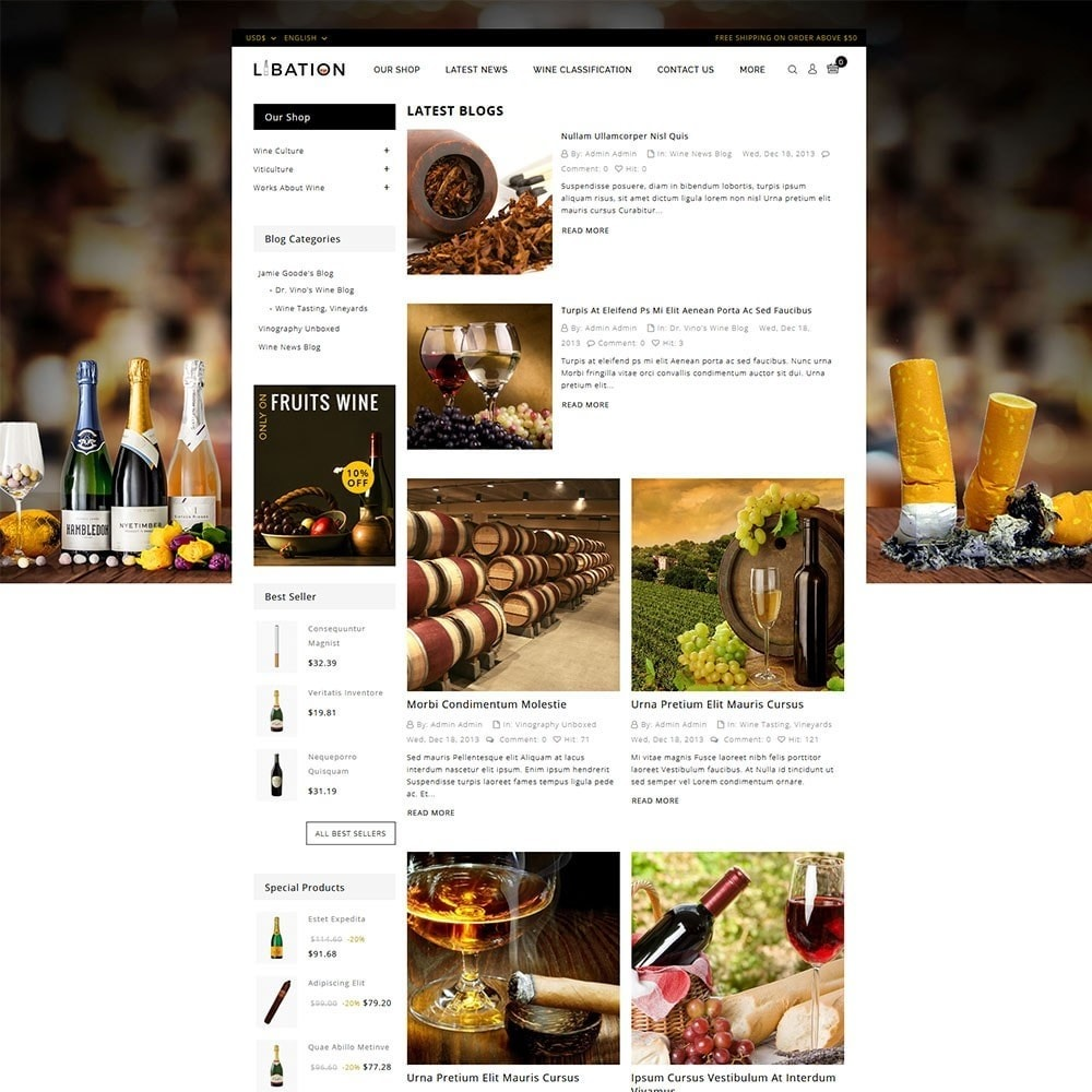theme - Drink & Wine - Libation Wine Store - 6
