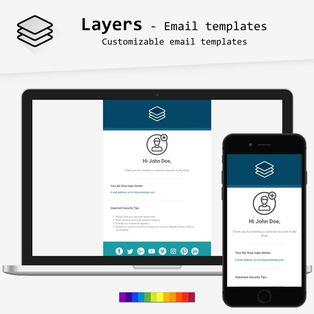 email - Email templates PrestaShop - Layers - Email templates - 1