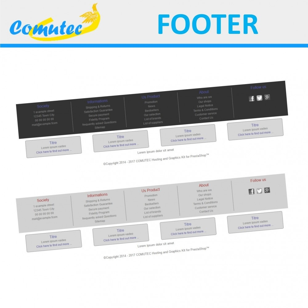 module - Page Customization - Comutec Footer - 1