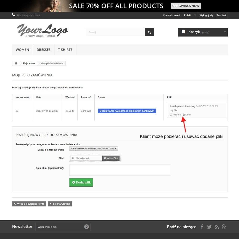 module - Procedury składania zamówień - Pliki zamówienia - powiąż pliki z zamówieniami - 4