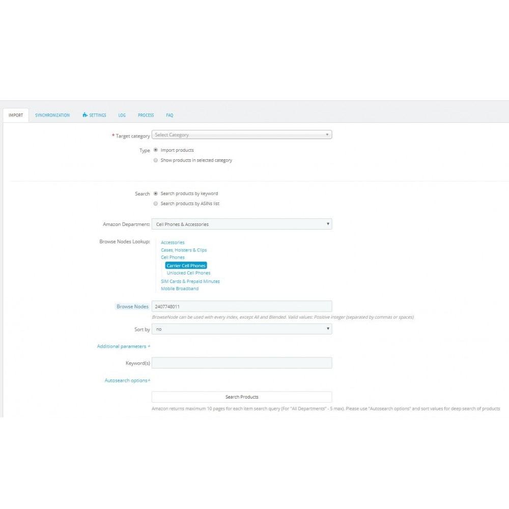 module - Marketplace - Amazon Products Import + Amazon Shopping Cart - 1