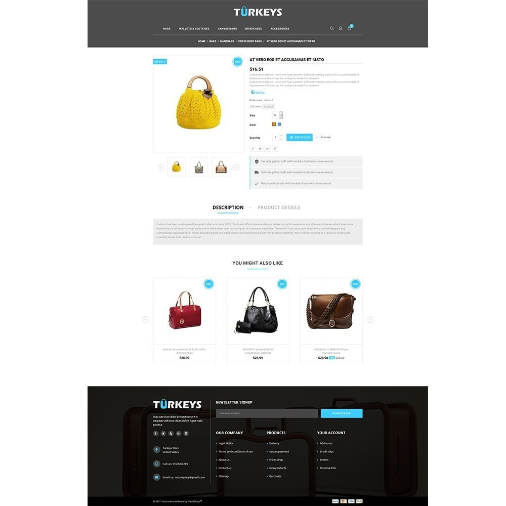 theme - Mode & Chaussures - Turkeys Bag Store - 5