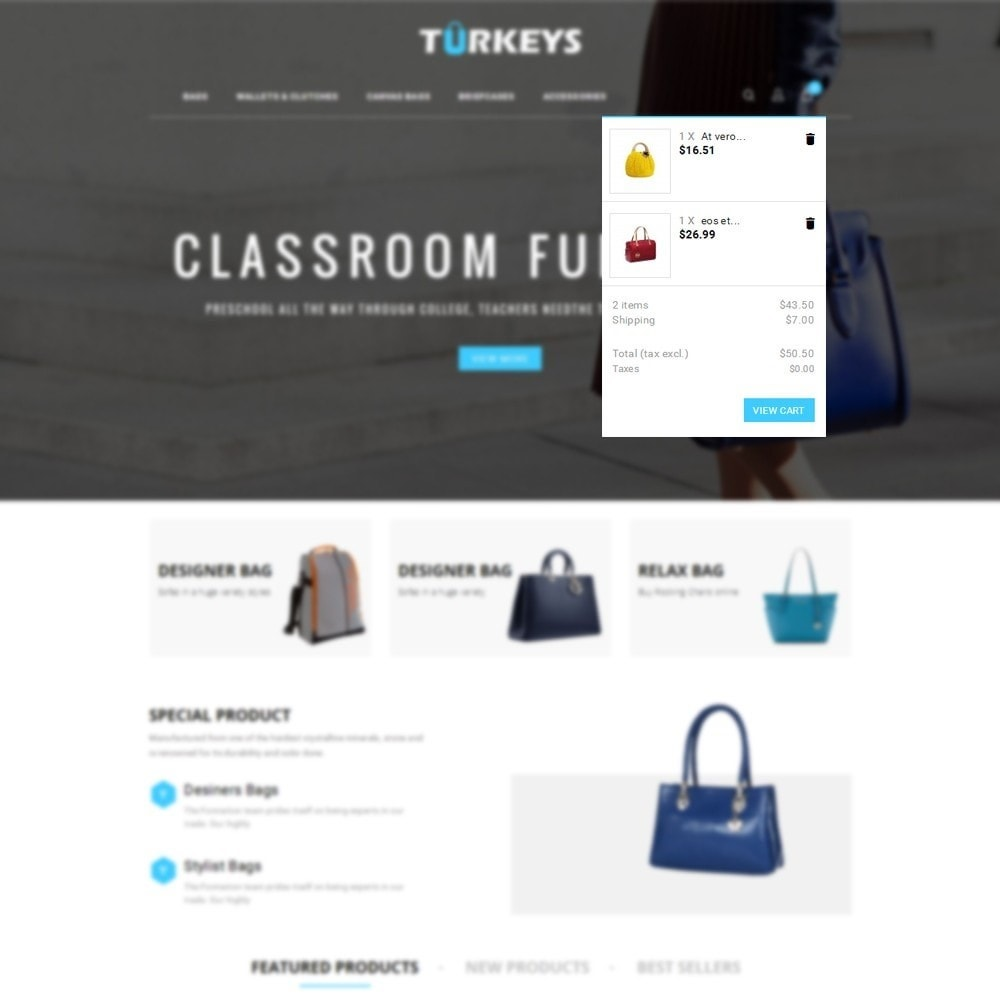 theme - Mode & Chaussures - Turkeys Bag Store - 6