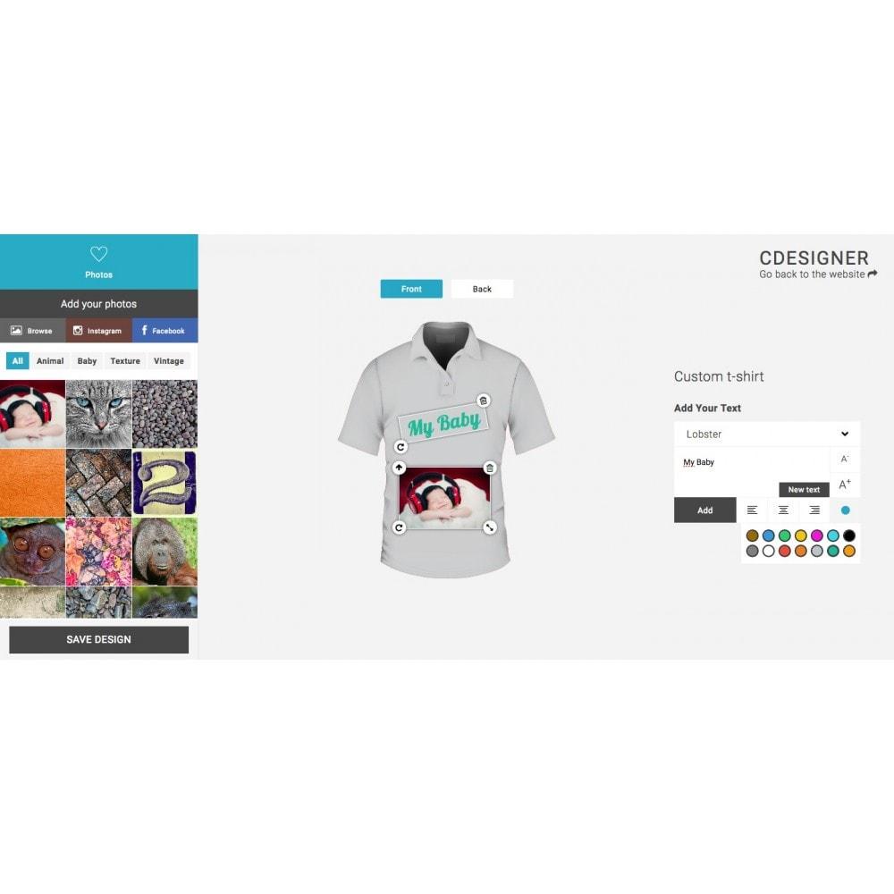 module - Combinazioni & Personalizzazione Prodotti - Product Customization Designer - Cdesigner Customize - 3