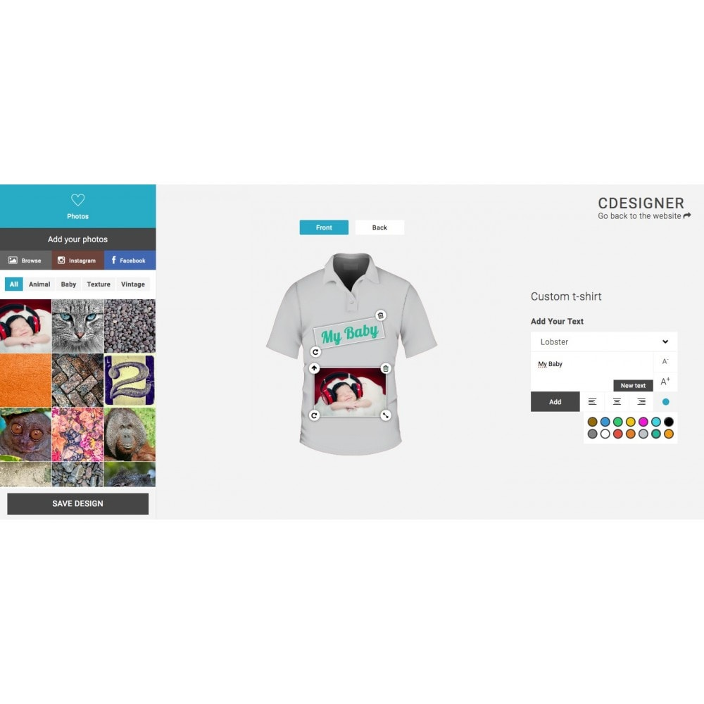 module - Bundels & Personalisierung - Product Customization Designer - Cdesigner Customize - 3