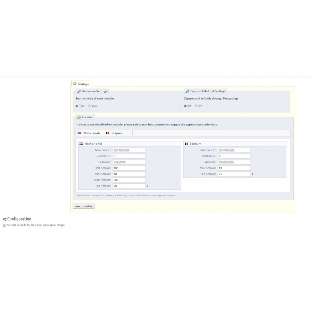 module - Andere betaalmethodes - AfterPay - With Order management - 1