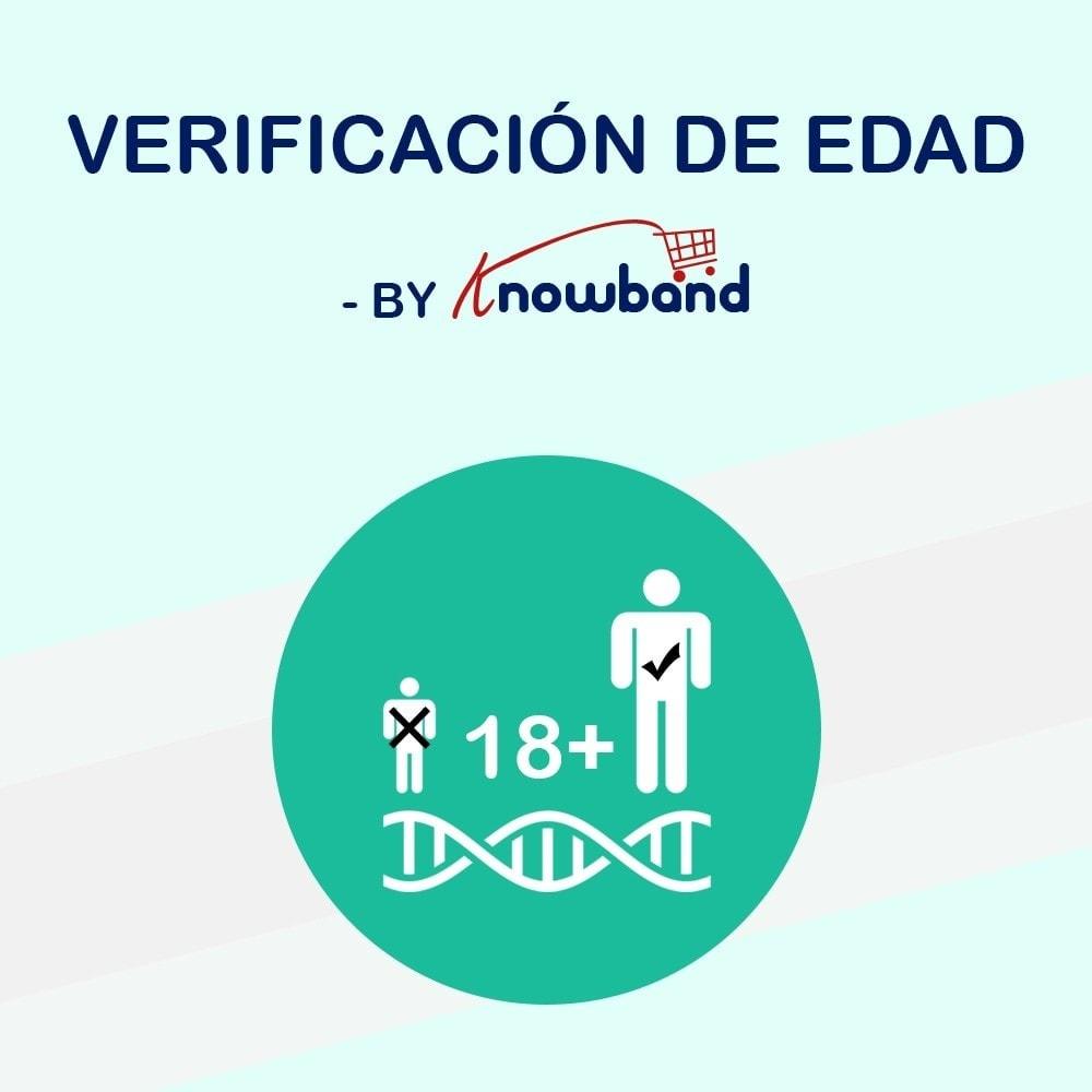 module - Seguridad y Accesos - Knowband Verificación de Edad(Age Verification) - 1