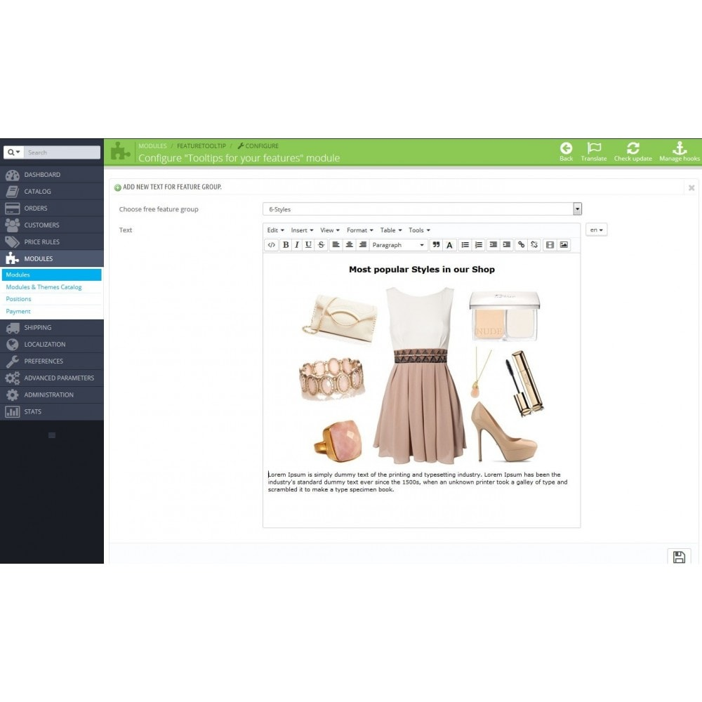 module - Página de producto - Tooltips of features in product page - 2