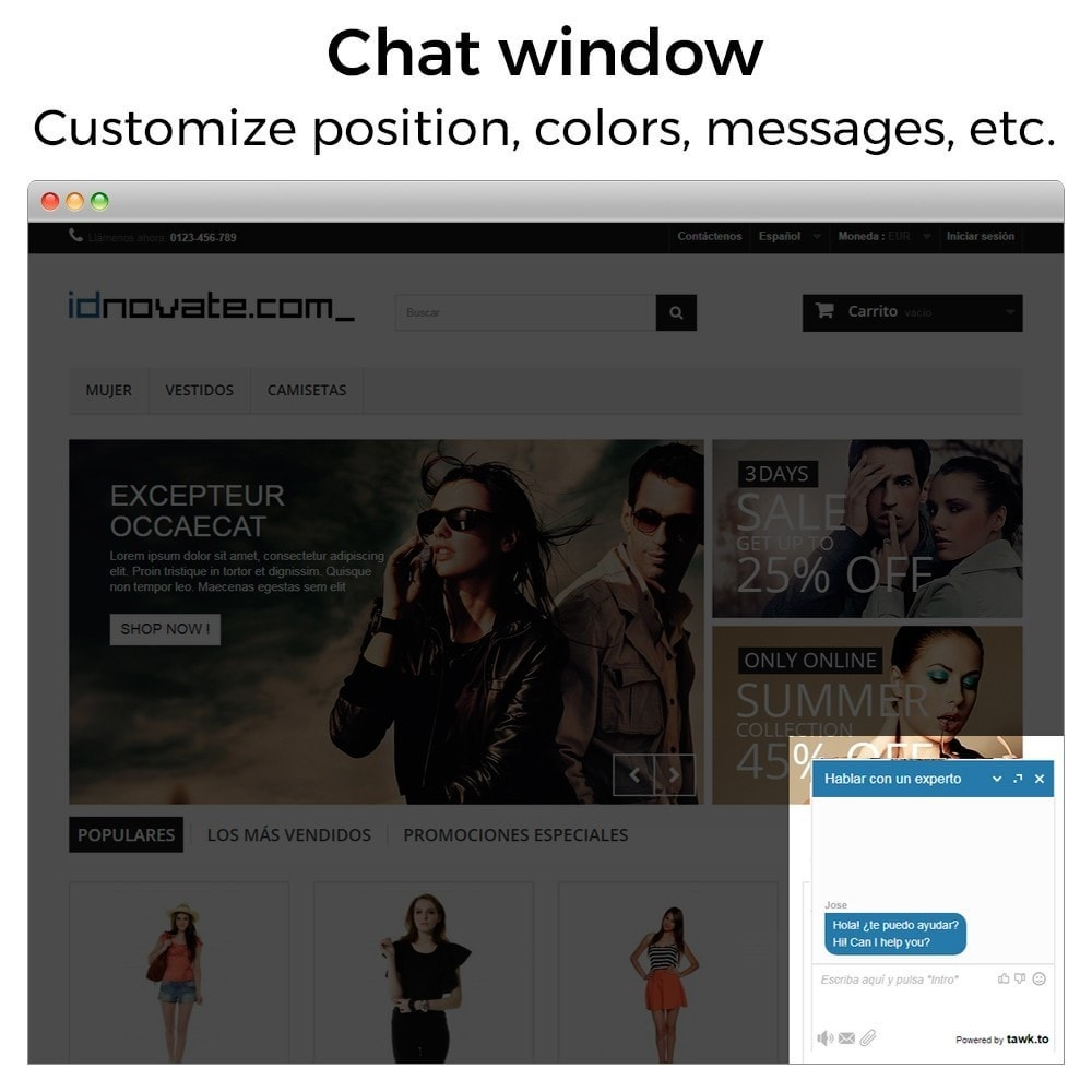 module - Supporto & Chat online - Tawk.to - Live chat integration - Multilanguage - 2