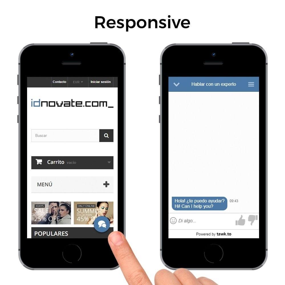 module - Asistencia & Chat online - Tawk.to - Chat integrado en tiempo real - Multilenguaje - 5