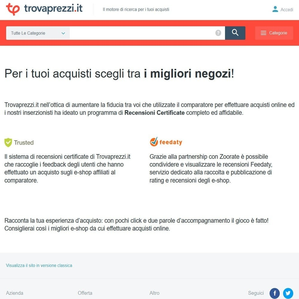 module - Loyaliteitsprogramma - Trovaprezzi.it Trusted Program - 2