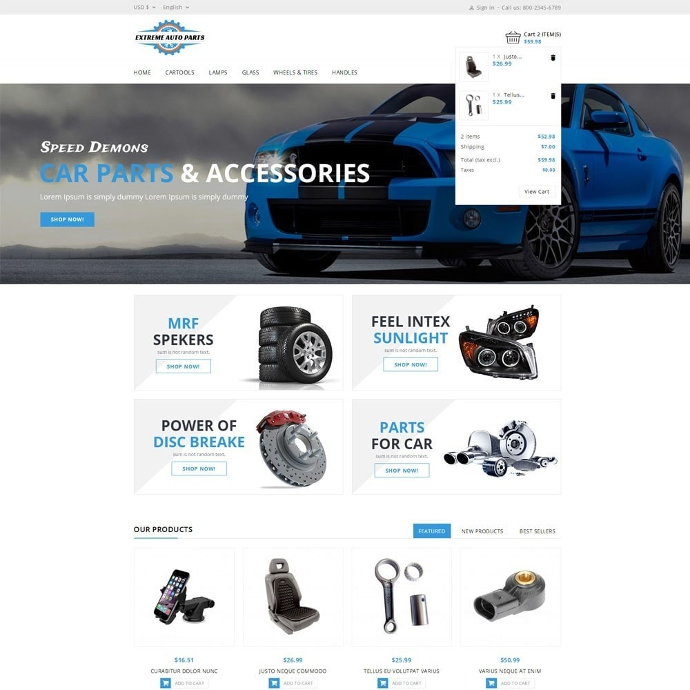 theme - Coches y Motos - Extreme Autoparts store - 6
