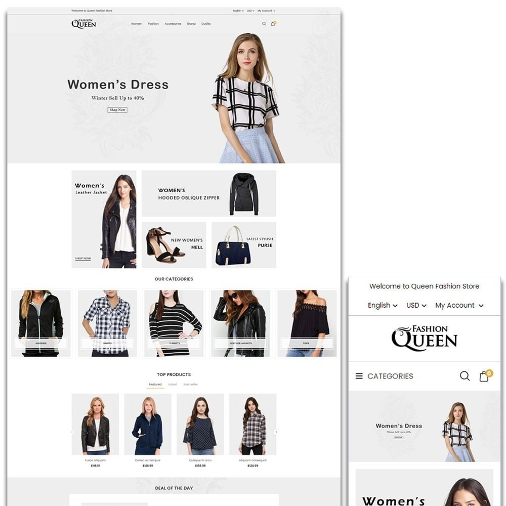 theme - Moda & Obuwie - Queen Fashion Store - 1