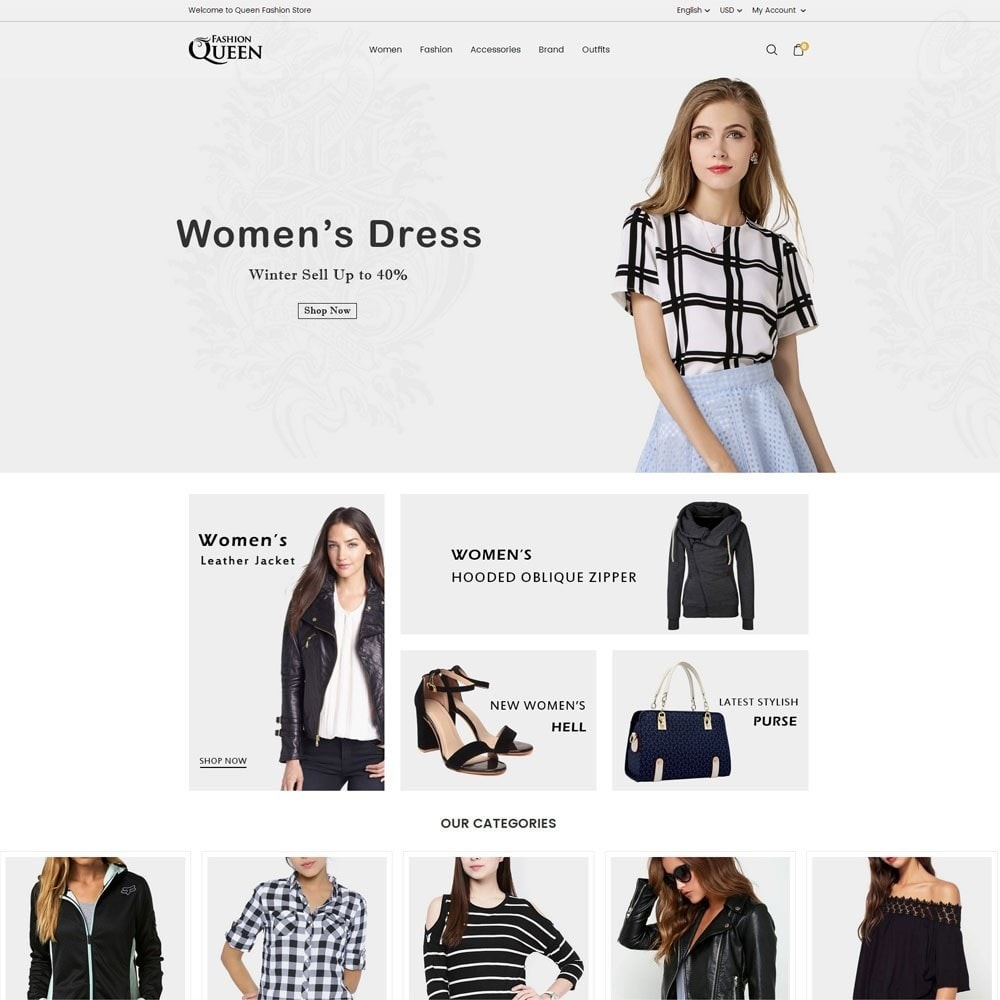 theme - Moda y Calzado - Queen Fashion Store - 2