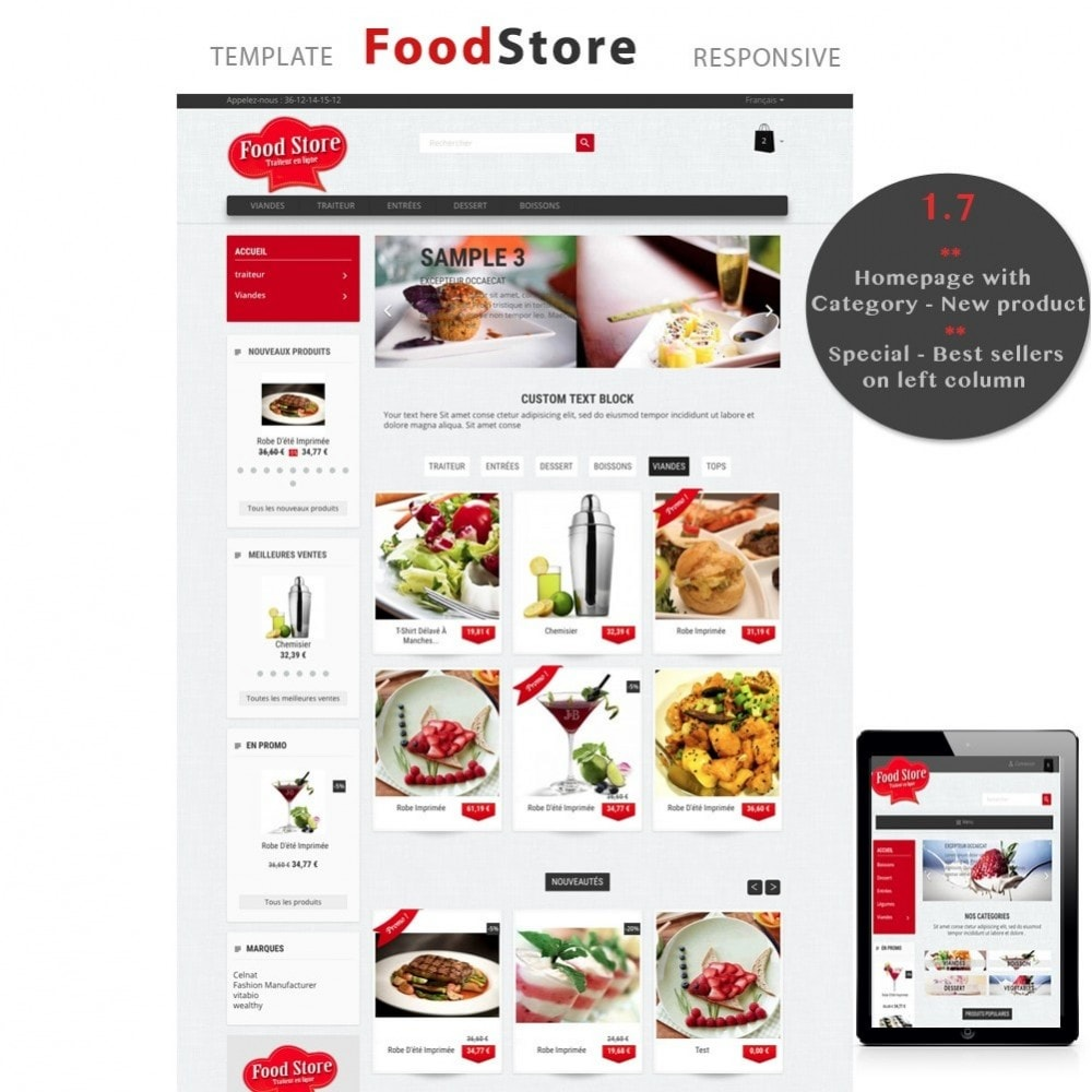 theme - Food & Restaurant - Foodstore - 1