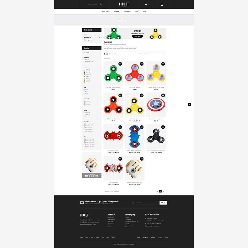 theme - Niños y Juguetes - Fidget - Toy Spinner Store - 5