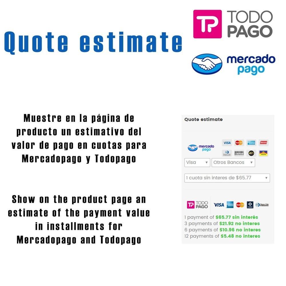 module - Paiement par Carte ou Wallet - Calc Quote Mercadopago / Todopago - 1