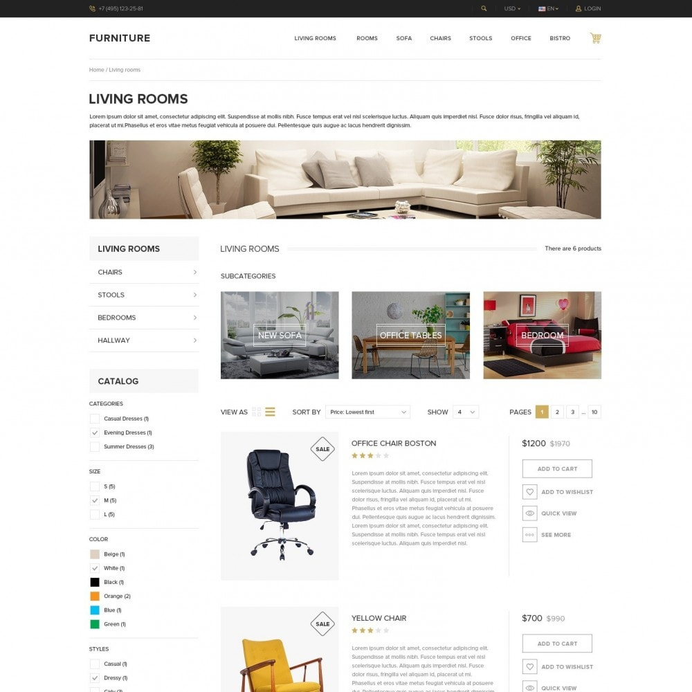 theme - Home & Garden - Interior - Furniture Online Store - 4