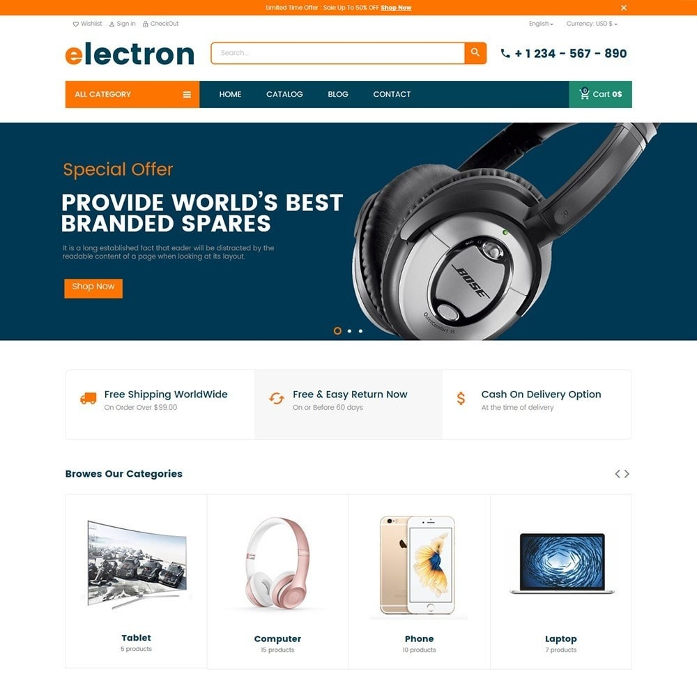 theme - Eletrônicos & High Tech - Electron - Digital, Electronics & Hi-Tech Stores - 2