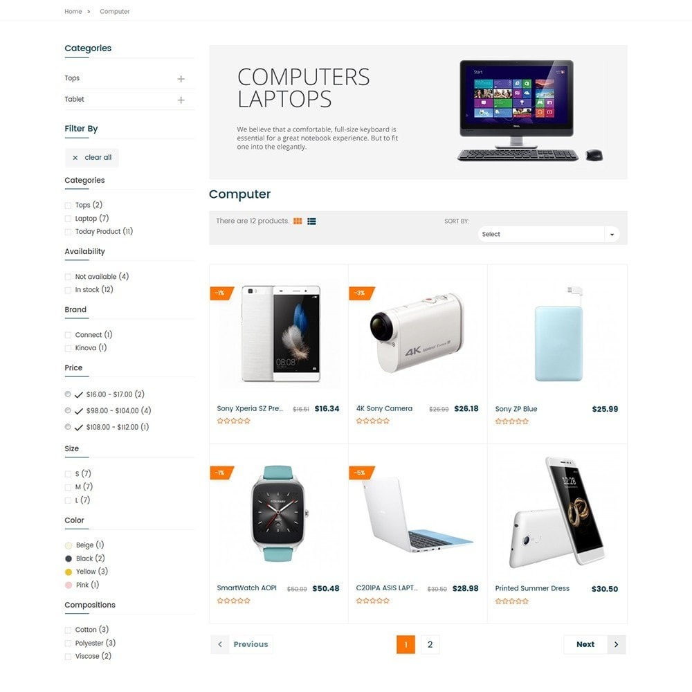theme - Electronique & High Tech - Electron - Digital, Electronics & Hi-Tech Stores - 5