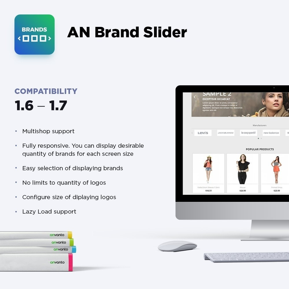 module - Slidery & Galerie - AN Brand Slider: partners, manufacturers logo carousel - 1