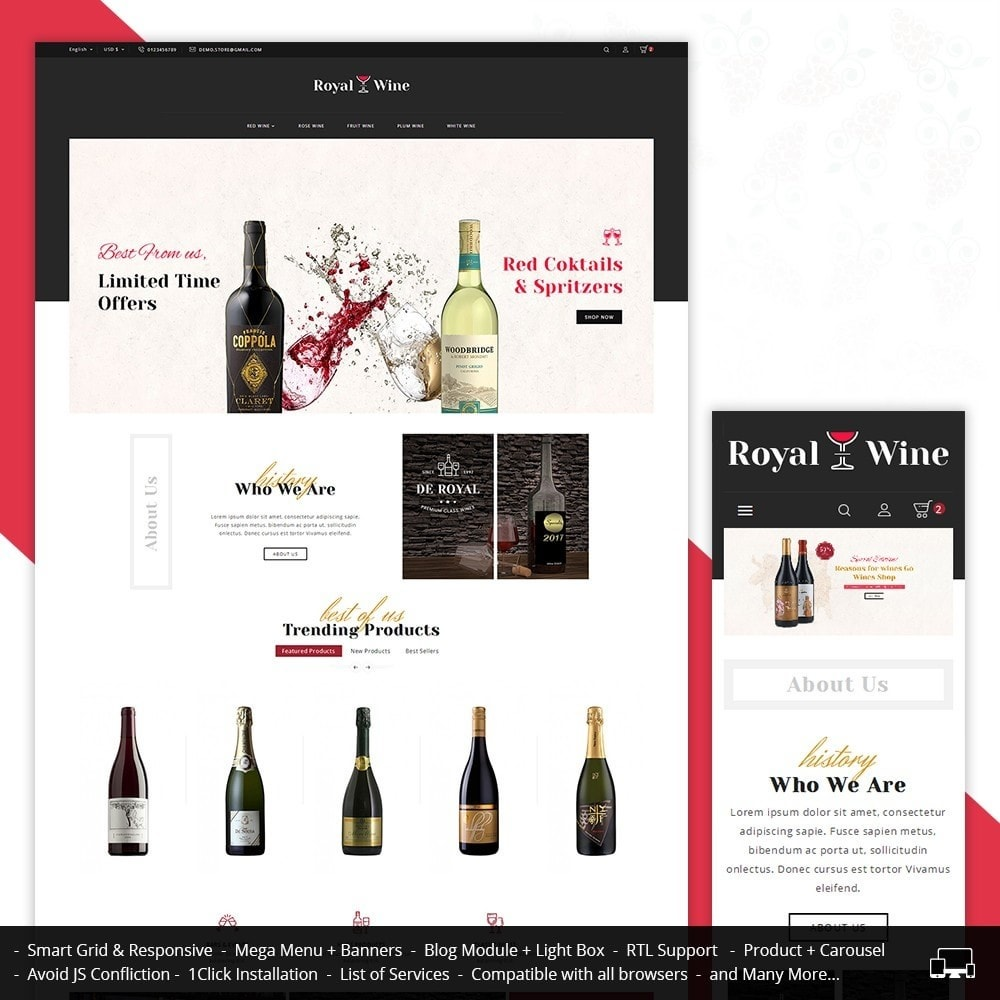 theme - Bebidas & Tabaco - Royal Wine - 1