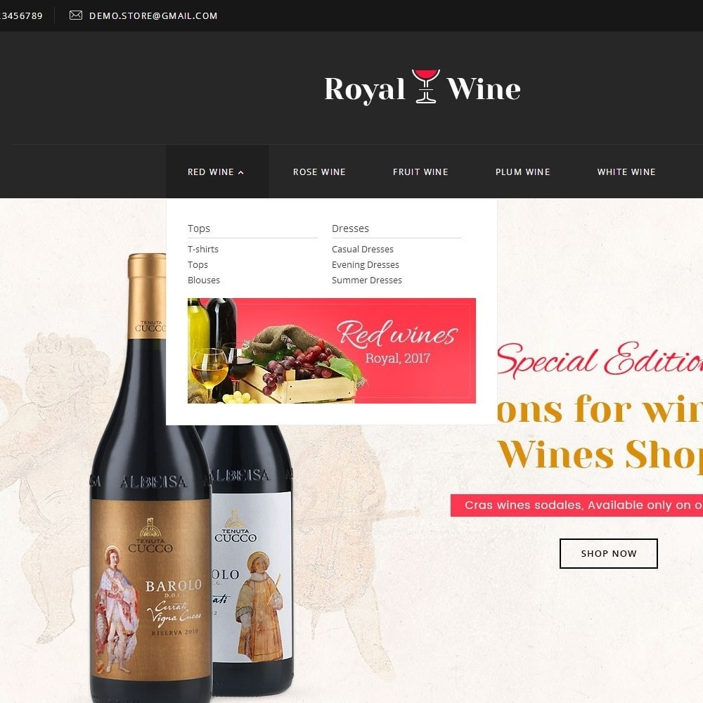 theme - Bebidas & Tabaco - Royal Wine - 8