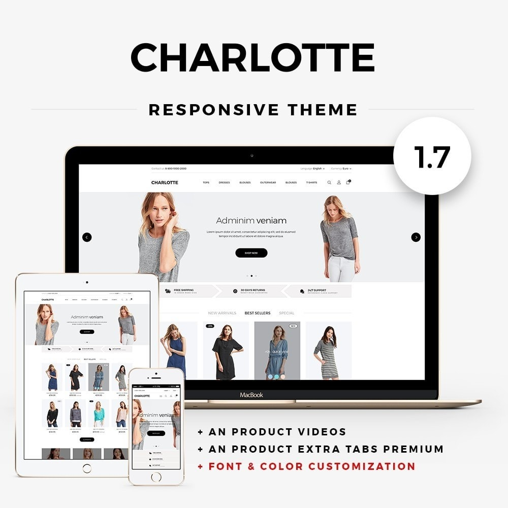 theme - Mode & Chaussures - Charlotte Fashion Store - 1