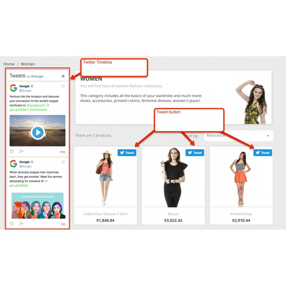 module - Widgets réseaux sociaux - Twitter Full Package - 1
