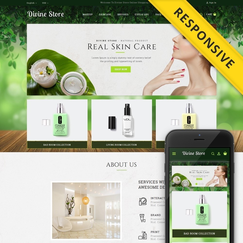 theme - Health & Beauty - Divine - Beauty Store - 1
