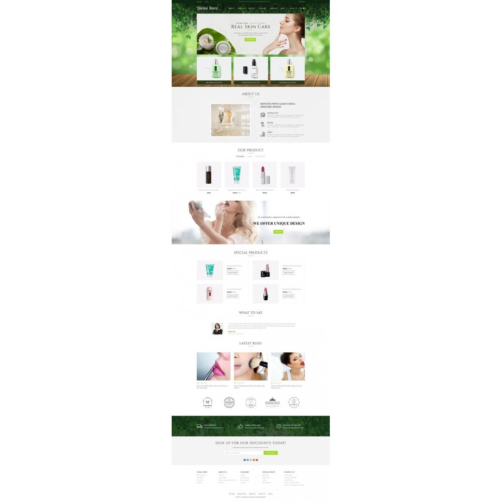theme - Health & Beauty - Divine - Beauty Store - 2