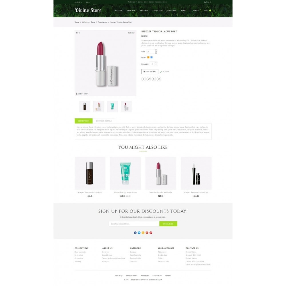 theme - Health & Beauty - Divine - Beauty Store - 5
