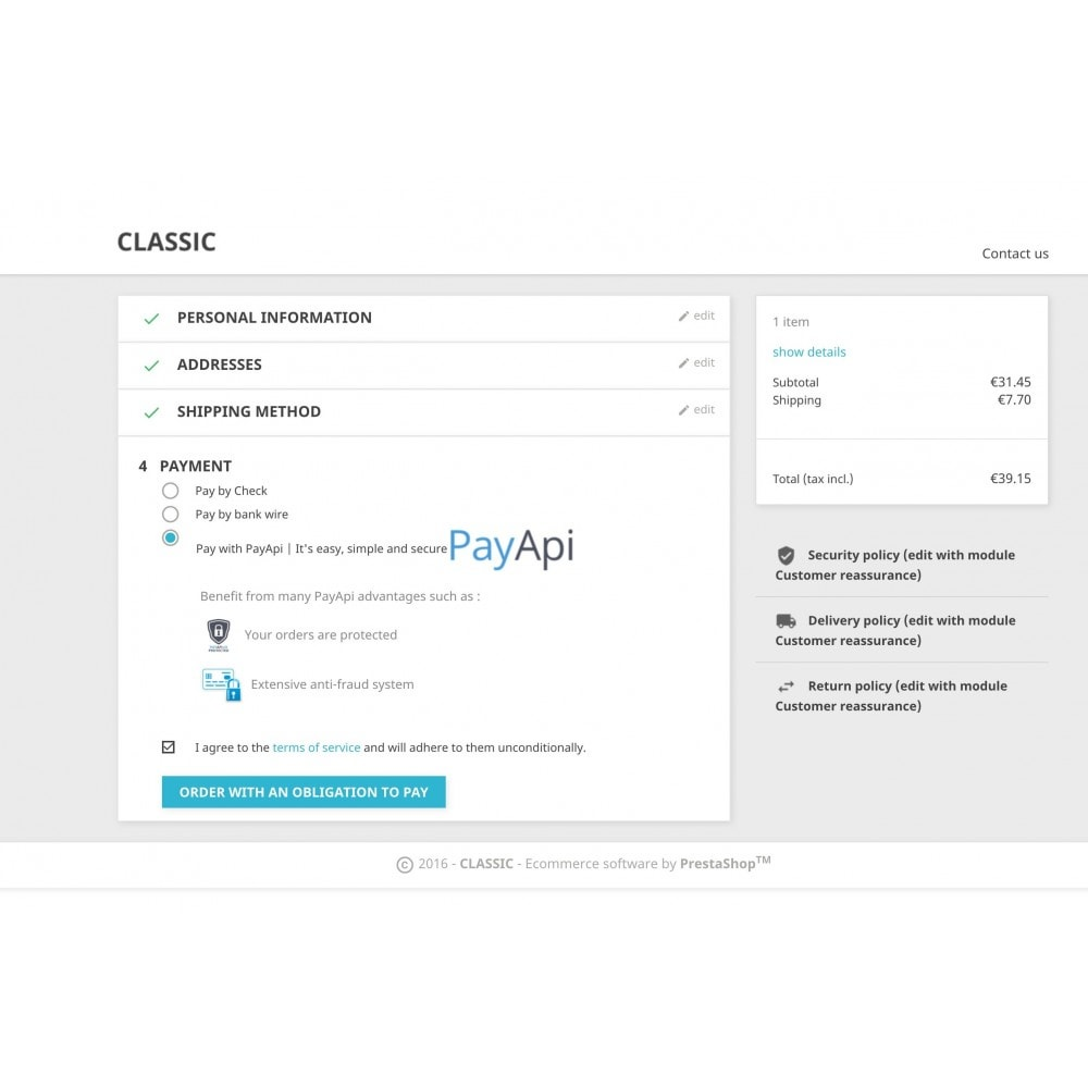 module - Payment by Card or Wallet - PayApi - 2