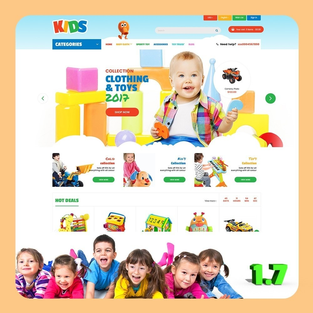 theme - Zabawki & Artykuły dziecięce - Kids Store - 1