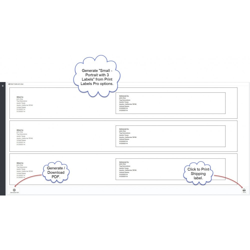 module - Подготовка и отправка - Print Labels Pro - Generate Printable Shipping Labels - 4
