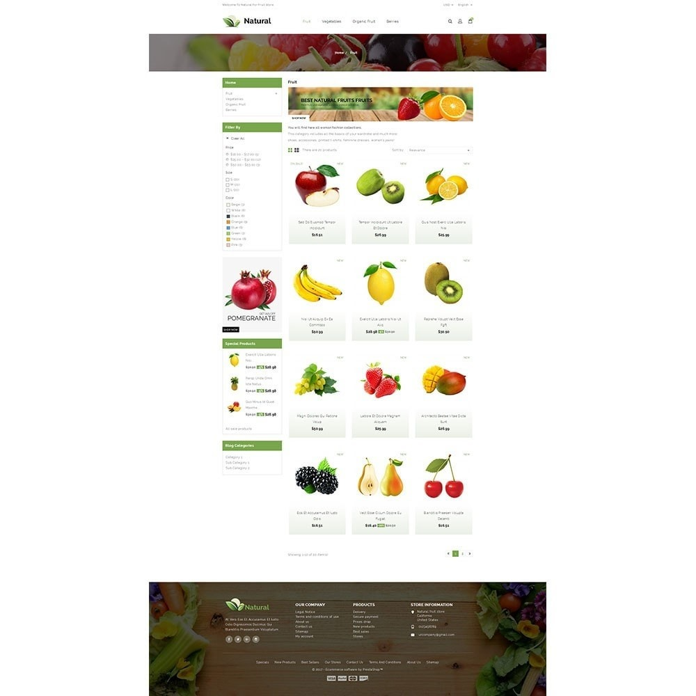 theme - Alimentation & Restauration - Natural Fruit Store - 3