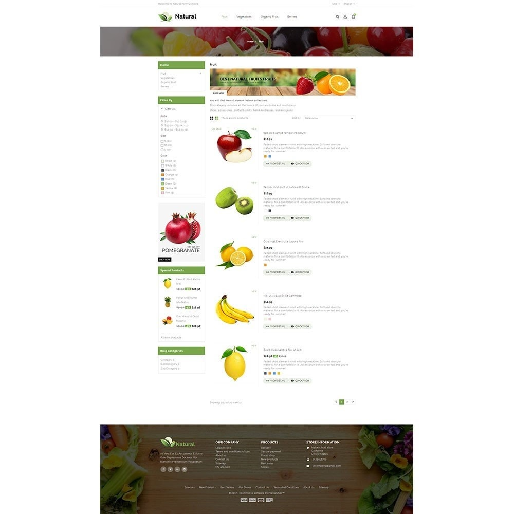 theme - Alimentation & Restauration - Natural Fruit Store - 4