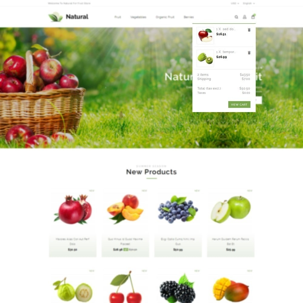 theme - Продовольствие и рестораны - Natural Fruit Store - 7