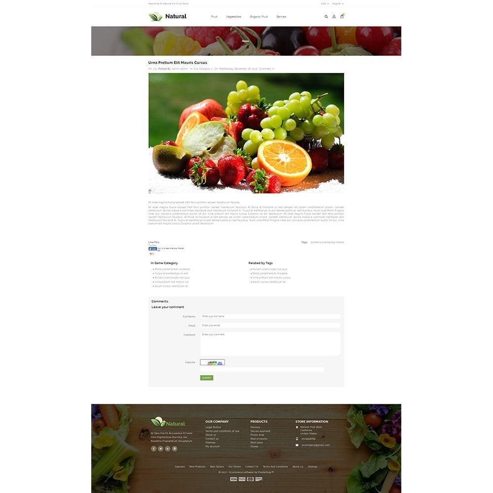 theme - Alimentation & Restauration - Natural Fruit Store - 8