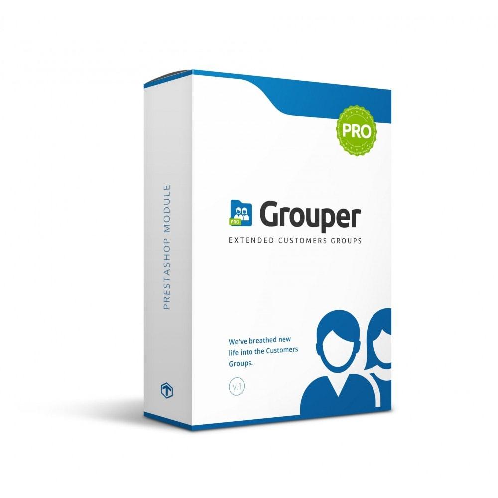 module - Управления учетными записями клиентов - Grouper PRO - Extended Customers Groups - 1