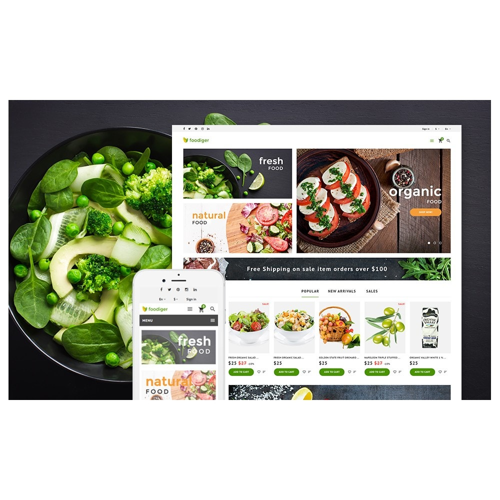 theme - Alimentation & Restauration - Foodiger - Grocery Store - 2