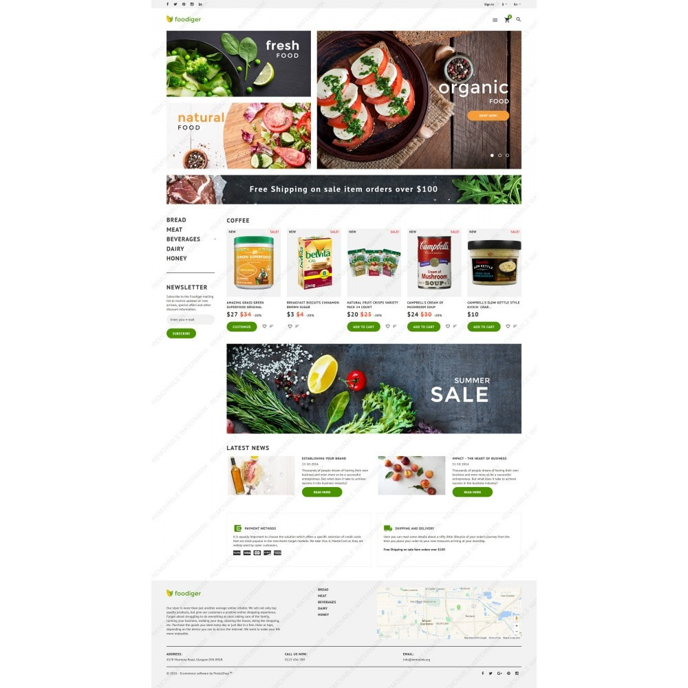 theme - Alimentation & Restauration - Foodiger - Grocery Store - 3
